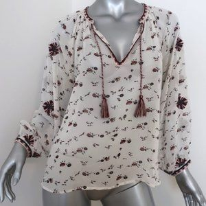 Ulla Johnson Blouse Lida White Embroidered Floral